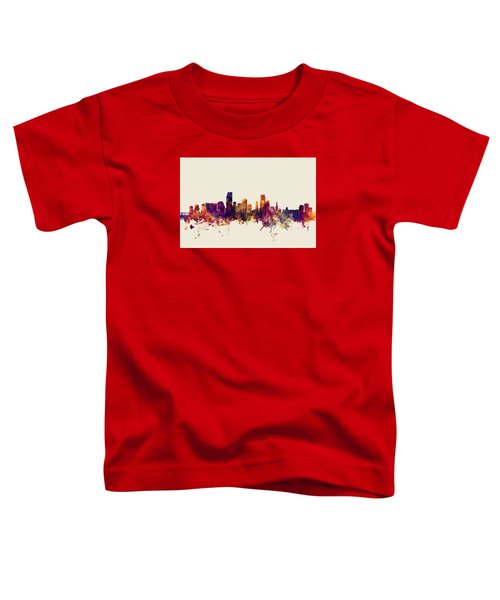 Miami Florida Skyline Toddler T-Shirt by Michael Tompsett