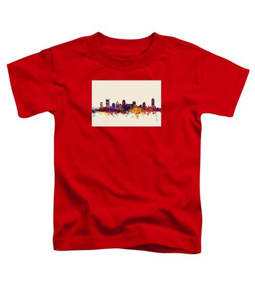 Nashville Tennessee Skyline Toddler T-Shirt