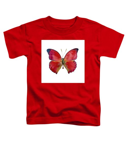 83 Red Glider Butterfly Toddler T-Shirt