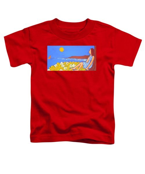 Toddler T-Shirt featuring the painting A Quiet Place by Winsome Gunning