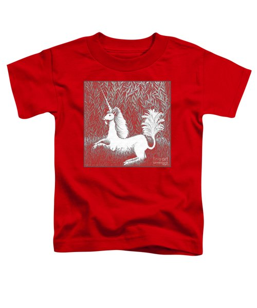 A Unicorn In Moonlight Tapestry Toddler T-Shirt