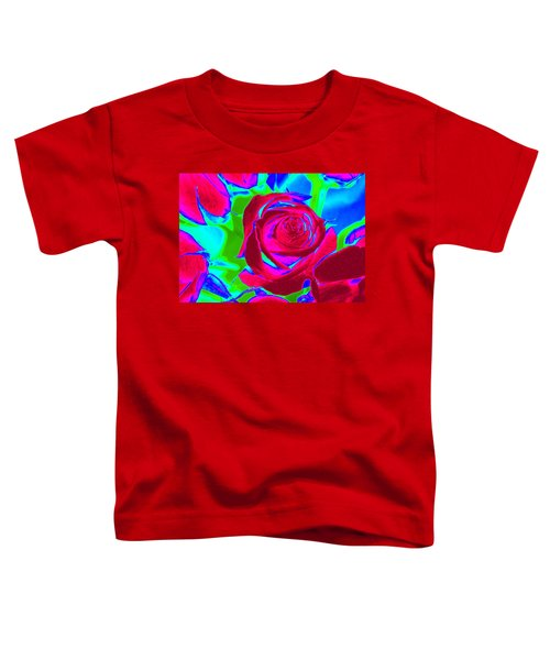 Burgundy Rose Abstract Toddler T-Shirt