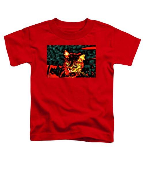 Abstract Cat Toddler T-Shirt