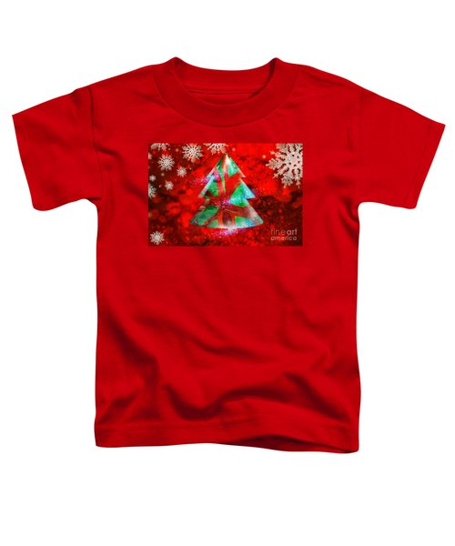 Abstract Christmas Bright Toddler T-Shirt