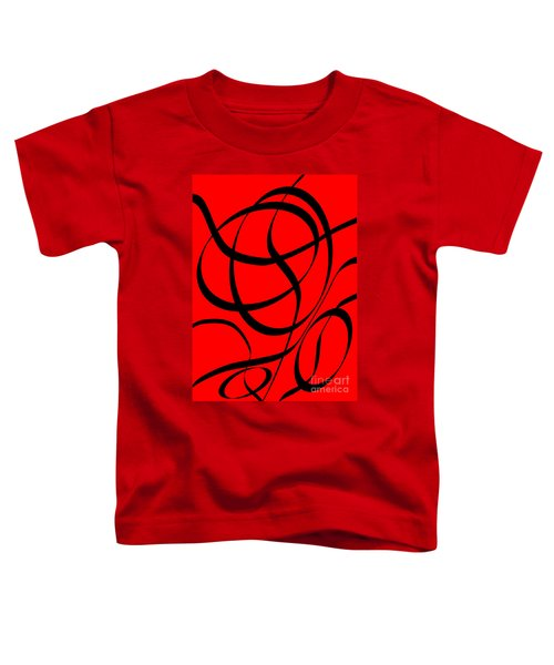 Abstract Design In Red And Black Toddler T-Shirt
