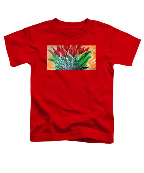 Abstract Lotus Toddler T-Shirt