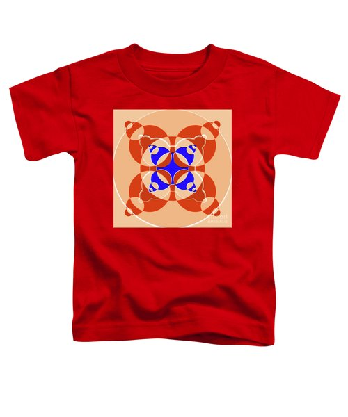 Abstract Mandala Pink, Orange And Blue Pattern For Home Decoration Toddler T-Shirt