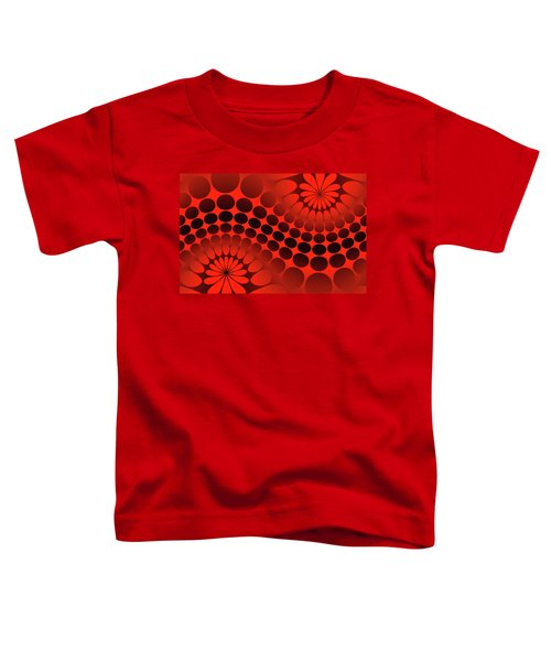 Abstract Red And Black Ornament Toddler T-Shirt
