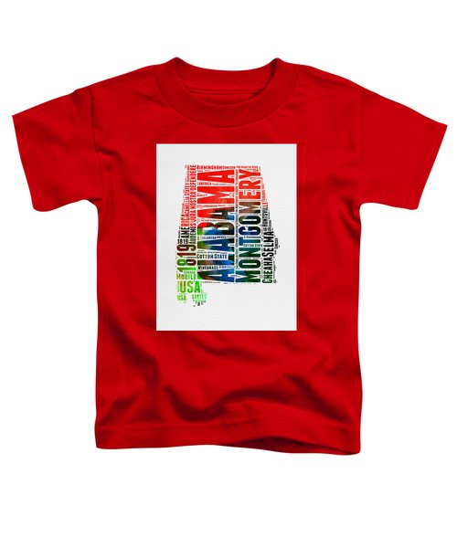 Alabama Watercolor Word Cloud  Toddler T-Shirt
