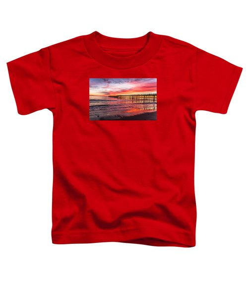 Toddler T-Shirt featuring the photograph Seacliff Sunset by Lora Lee Chapman
