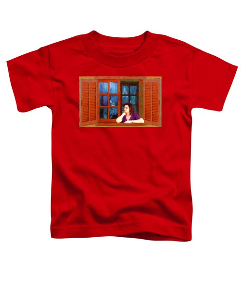 Andrea And The Cat Toddler T-Shirt