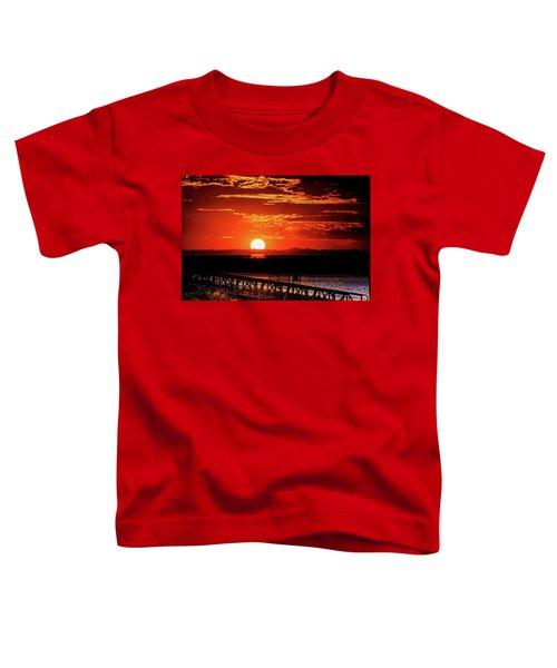 Antelope Island Marina Sunset Toddler T-Shirt