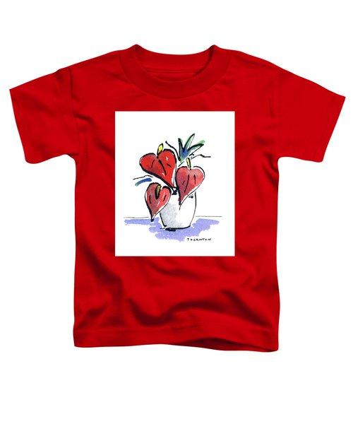 Anthurium Vase Toddler T-Shirt
