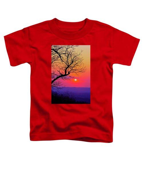 Appalcahian Sunset Tree Silhouette #2 Toddler T-Shirt