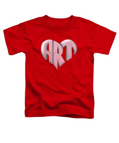 Art Heart Toddler T-Shirt