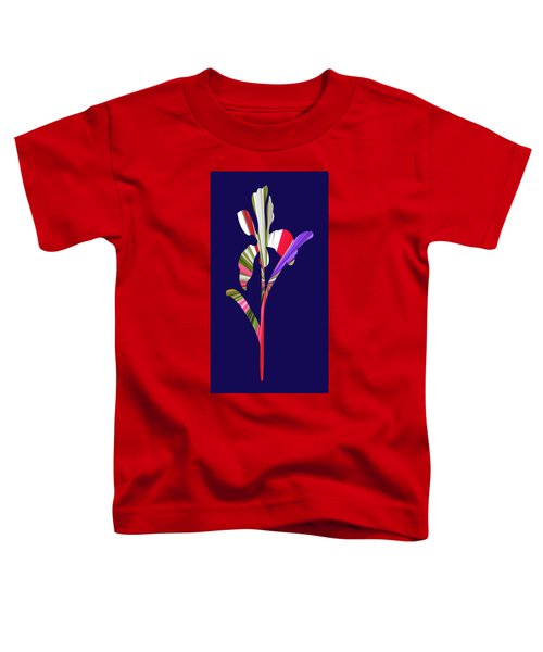 Artsy Flower With Blue Background Toddler T-Shirt