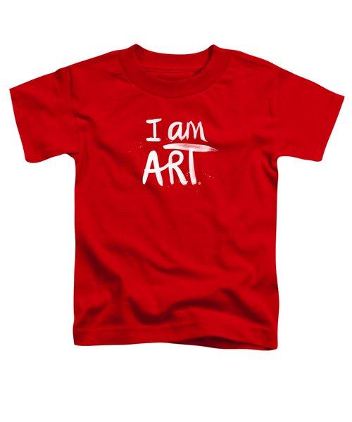 I Am Art- Painted Toddler T-Shirt
