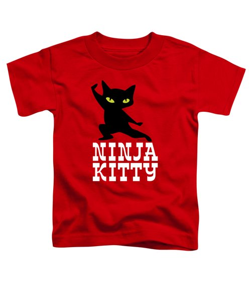 Ninja Kitty Retro Poster Toddler T-Shirt