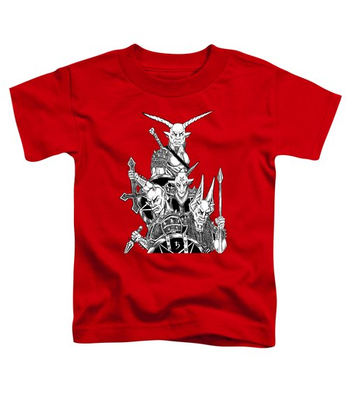 The Infernal Army White Version Toddler T-Shirt by Alaric Barca