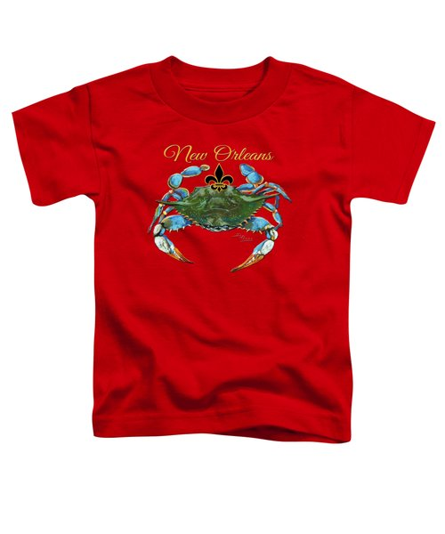 Louisiana Blue On Red Toddler T-Shirt