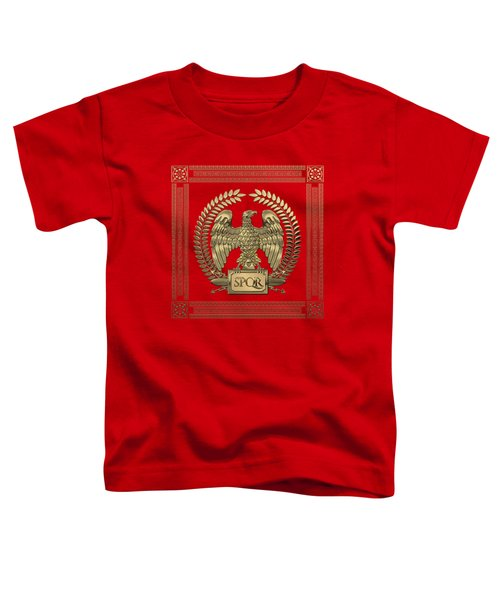 Roman Empire - Gold Imperial Eagle Over Red Velvet Toddler T-Shirt
