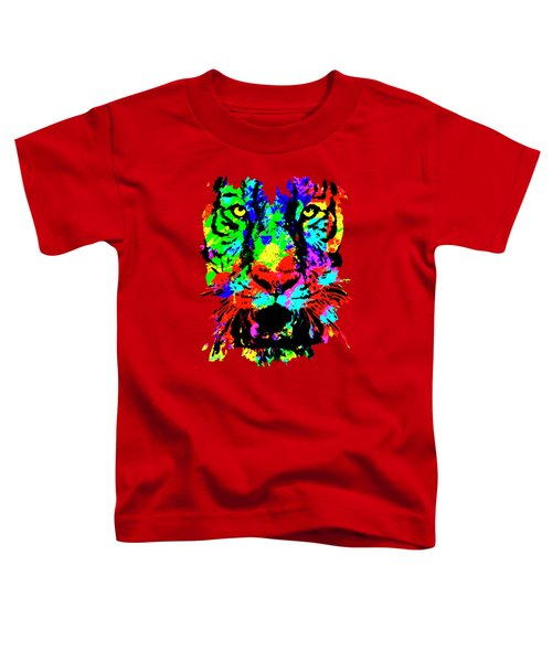 Colored Tiger Toddler T-Shirt