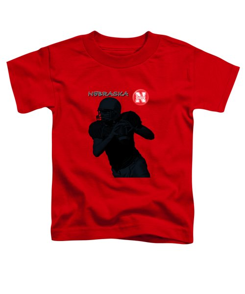 Nebraska Football Toddler T-Shirt by David Dehner