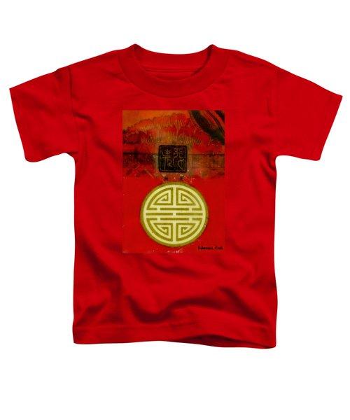 Asian Red Encaustic Toddler T-Shirt by Bellesouth Studio