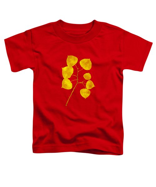 Toddler T-Shirt featuring the photograph Aspen Tree Leaf Art by Christina Rollo