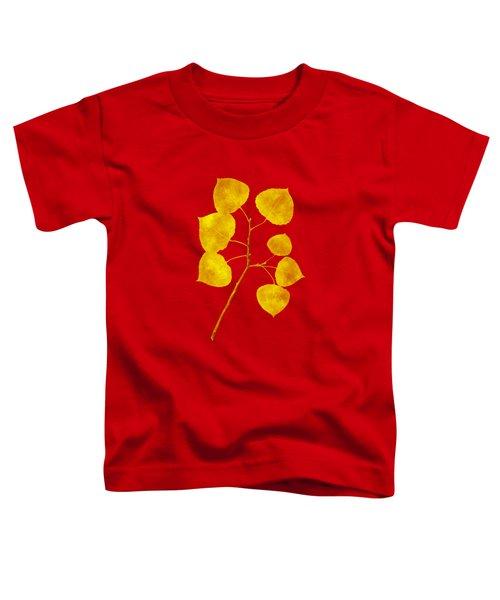 Aspen Tree Leaf Art Toddler T-Shirt