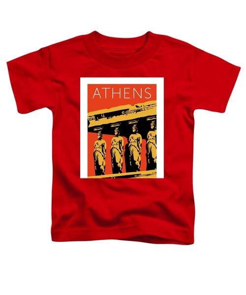 Athens Erechtheum Orange Toddler T-Shirt