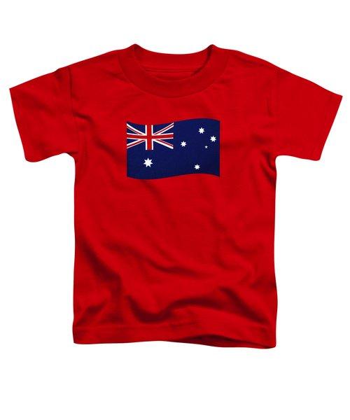 Australian Flag Waving Png By Kaye Menner Toddler T-Shirt by Kaye Menner