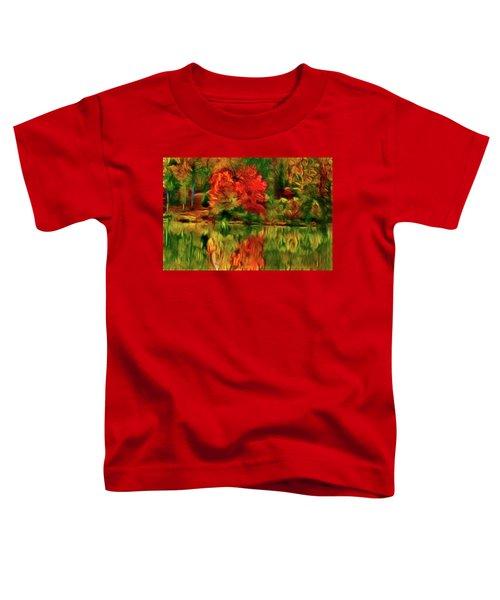 Autumn At The Lake-artistic Toddler T-Shirt