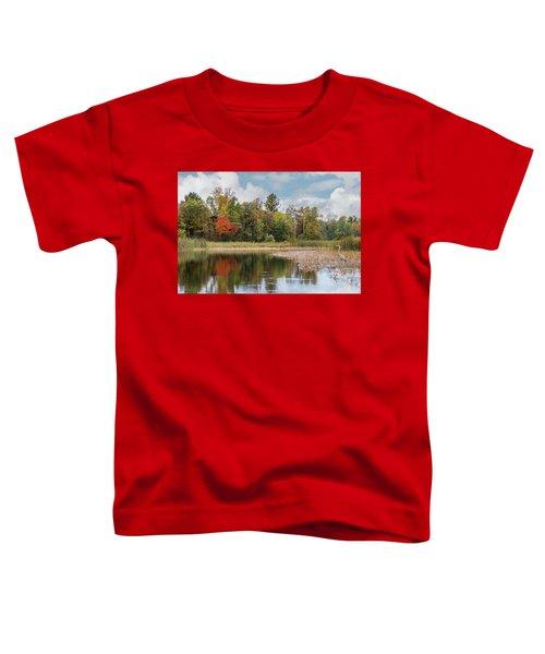 Autumn Blue Heron Toddler T-Shirt