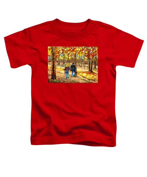 Autumn  Stroll On Mount Royal Toddler T-Shirt