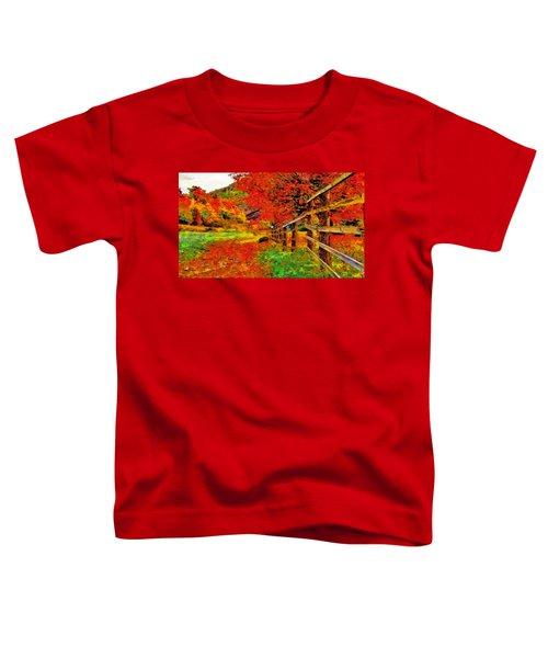 Autumnal Blaze Of Glory Toddler T-Shirt