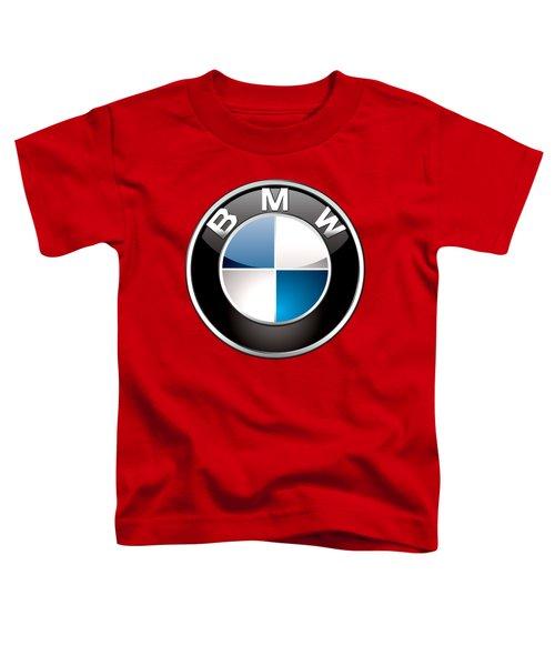B M W Badge On Red  Toddler T-Shirt
