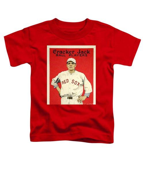 Babe Ruth Cracker Jack Card Toddler T-Shirt by Jon Neidert