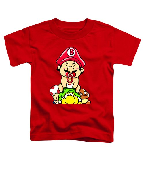 Baby Mario And Friends Toddler T-Shirt by Paws Pals