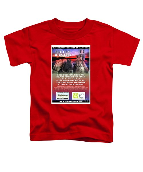 Backcountry Horsemen Join Us Poster II Toddler T-Shirt
