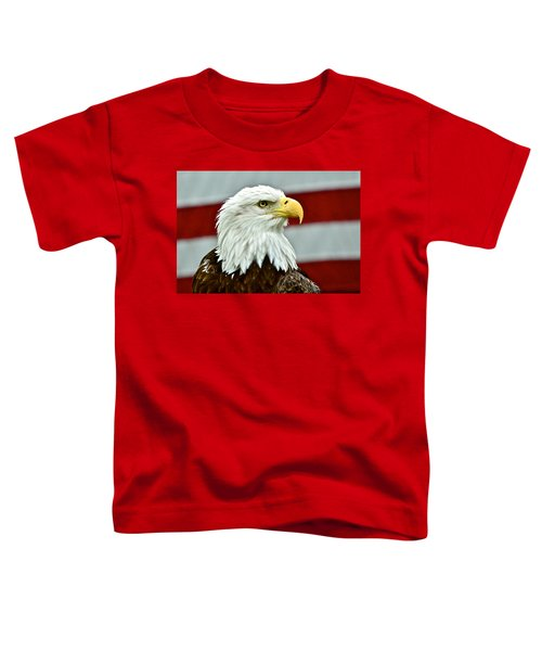 Bald Eagle And Old Glory Toddler T-Shirt