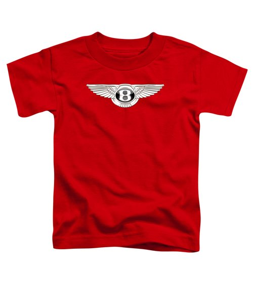 Bentley 3 D Badge On Red Toddler T-Shirt