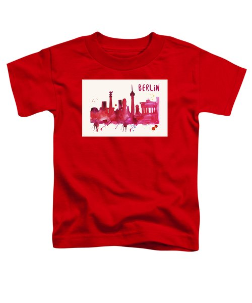 Berlin Skyline Watercolor Poster - Cityscape Painting Artwork Toddler T-Shirt