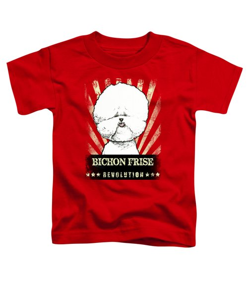 Bichon Frise Revolution Toddler T-Shirt