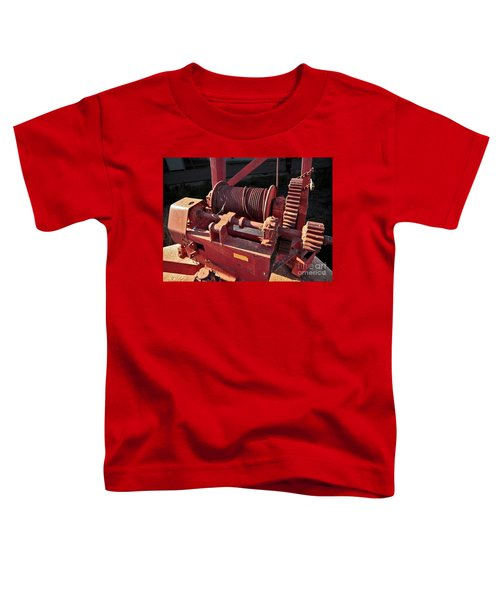 Toddler T-Shirt featuring the photograph Big Red Winch by Stephen Mitchell