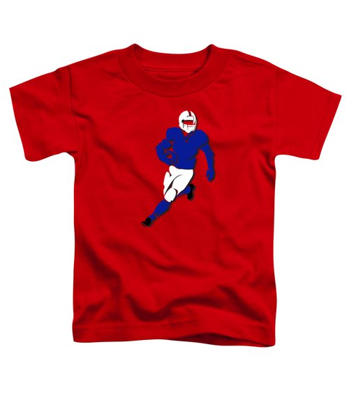Bills Player Shirt Toddler T-Shirt by Joe Hamilton