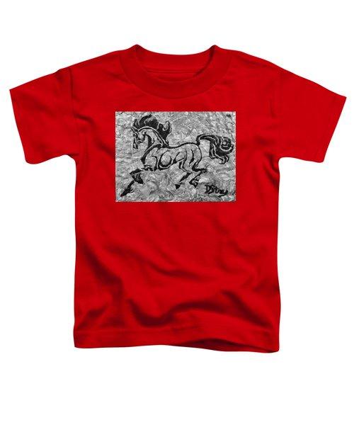 Black Jack Black And White Toddler T-Shirt