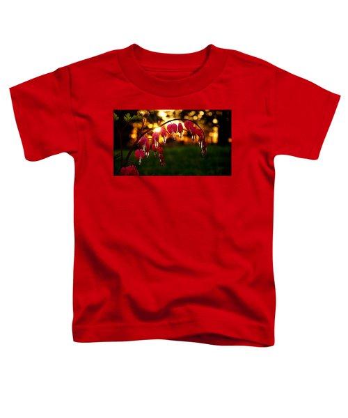 Bleeding Heart Sunset Toddler T-Shirt