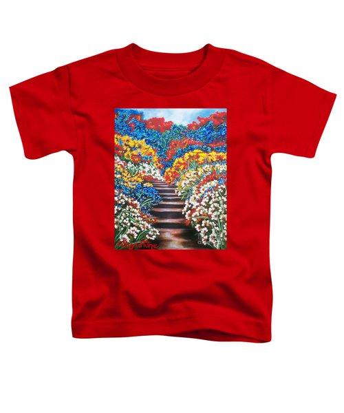 Chloe The   Flying Lamb Productions        Blue Garden Cascade Toddler T-Shirt