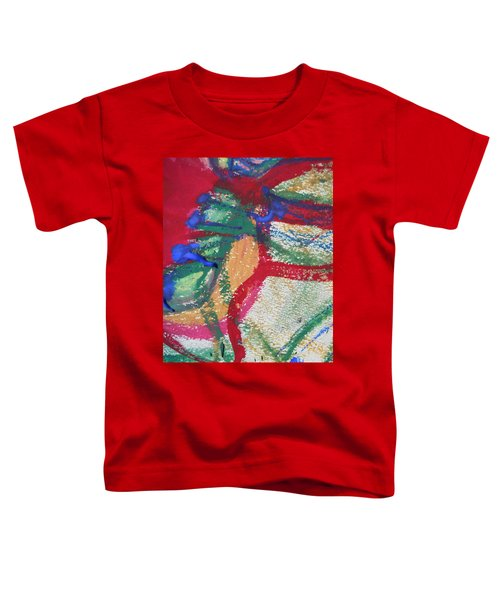 Blue On Red Toddler T-Shirt